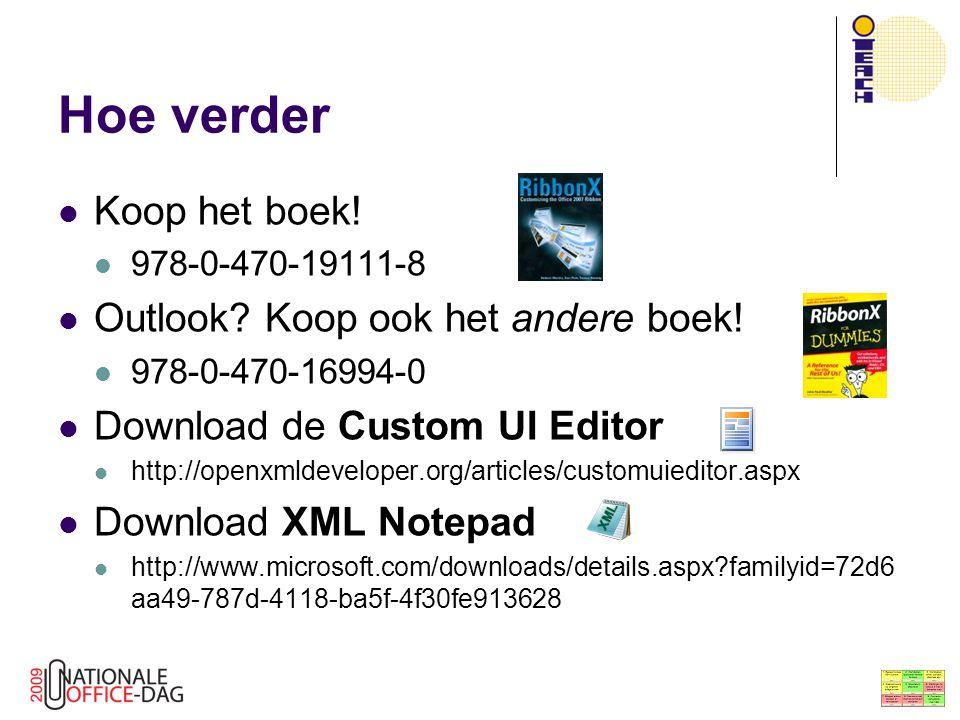 Hoe verder Koop het boek! Outlook Koop ook het andere boek!