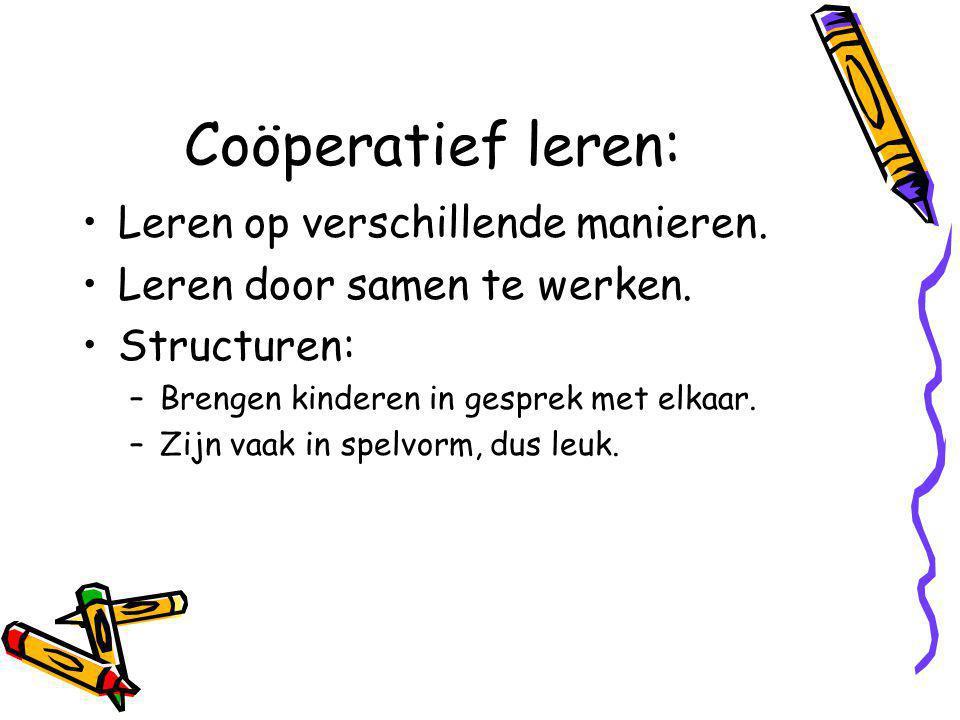 Coöperatief leren: Leren op verschillende manieren.