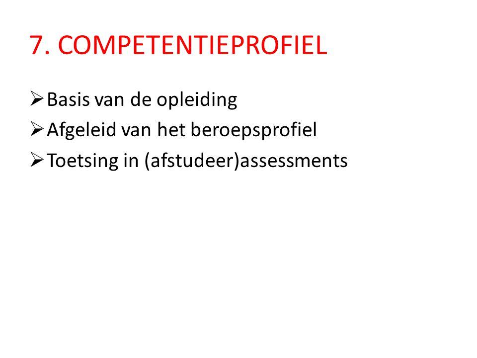 7. COMPETENTIEPROFIEL Basis van de opleiding