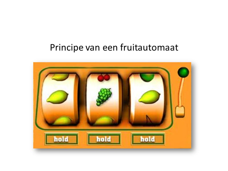 Principe van een fruitautomaat
