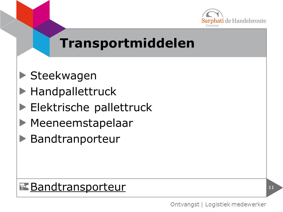 Transportmiddelen Steekwagen Handpallettruck Elektrische pallettruck