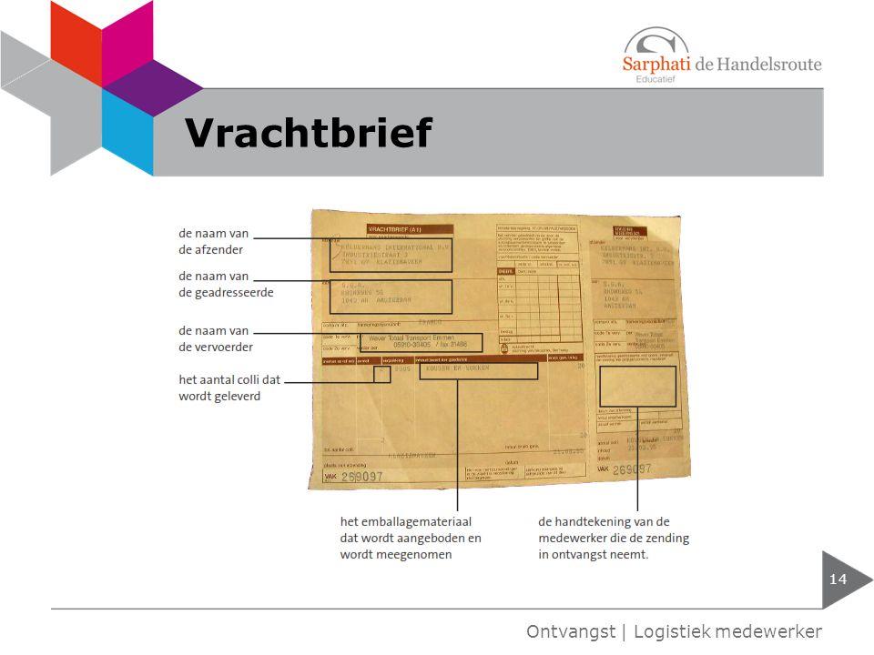 Vrachtbrief Ontvangst | Logistiek medewerker
