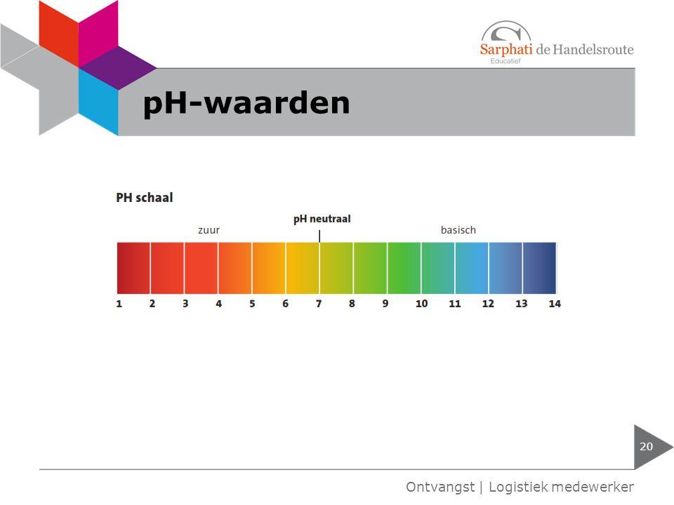 pH-waarden Ontvangst | Logistiek medewerker