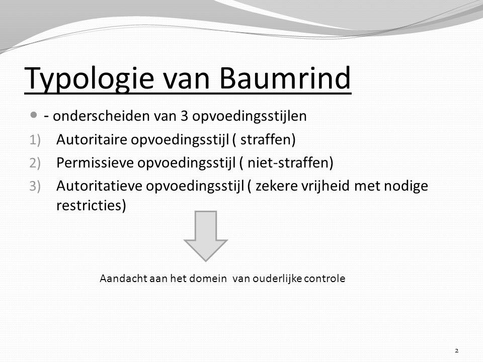 Typologie van Baumrind