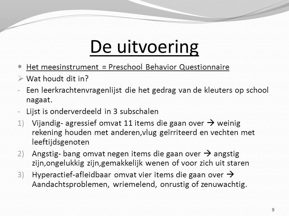 De uitvoering Het meesinstrument = Preschool Behavior Questionnaire