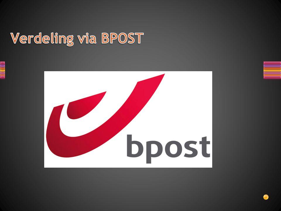Verdeling via BPOST