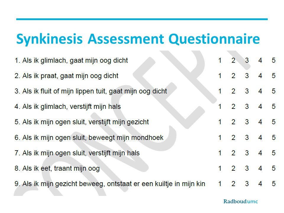 Synkinesis Assessment Questionnaire