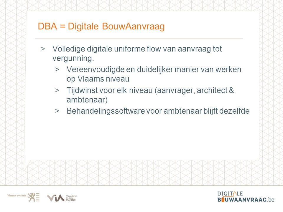 DBA = Digitale BouwAanvraag