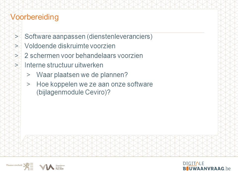 Voorbereiding Software aanpassen (dienstenleveranciers)