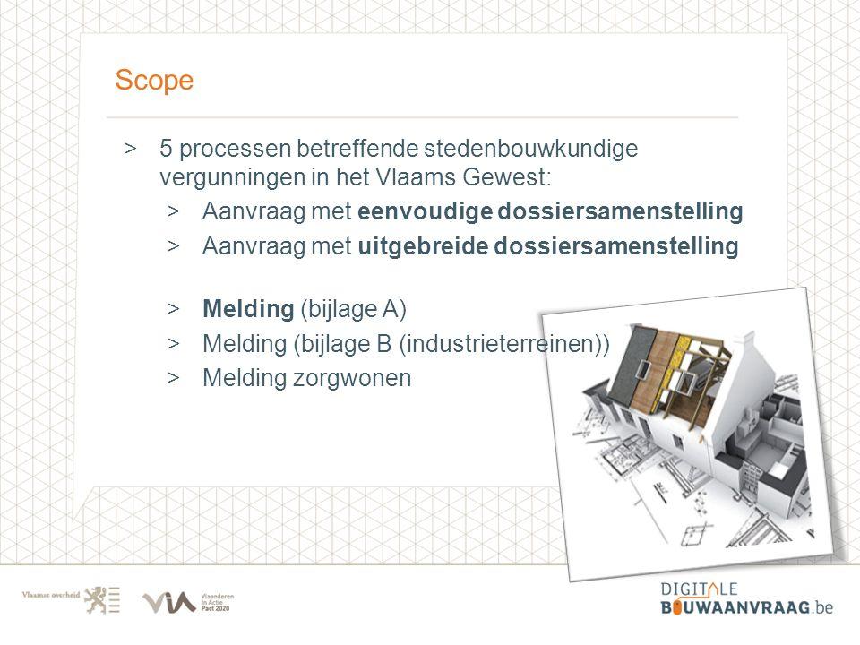 Scope 5 processen betreffende stedenbouwkundige vergunningen in het Vlaams Gewest: Aanvraag met eenvoudige dossiersamenstelling.