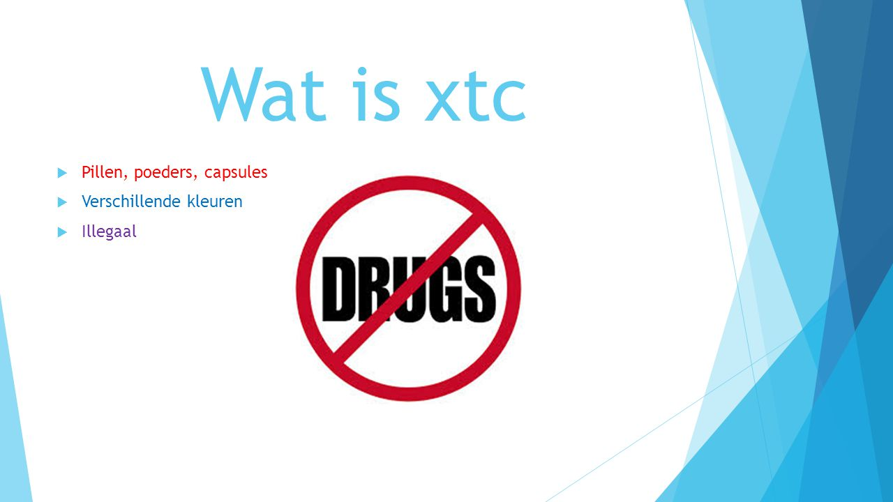 Wat is xtc Pillen, poeders, capsules Verschillende kleuren Illegaal