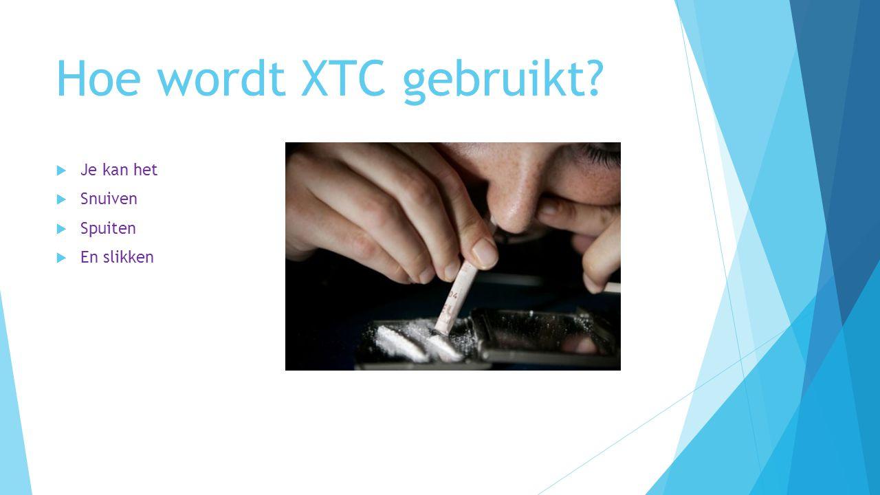 Hoe wordt XTC gebruikt Je kan het Snuiven Spuiten En slikken