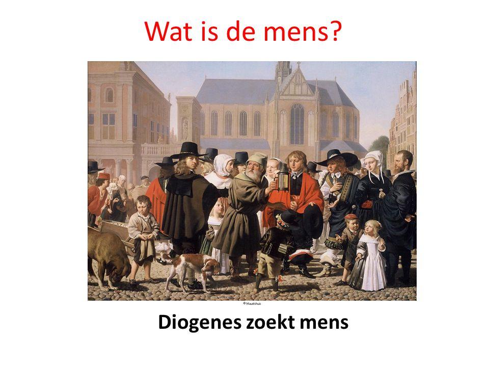 Wat is de mens Diogenes zoekt mens