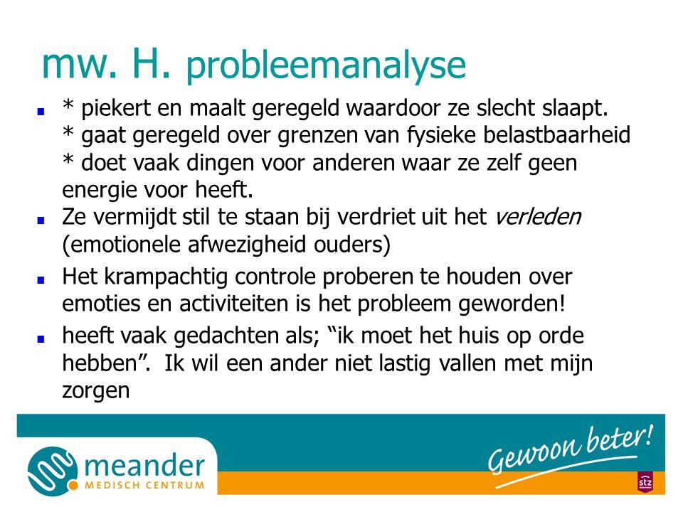 mw. H. probleemanalyse