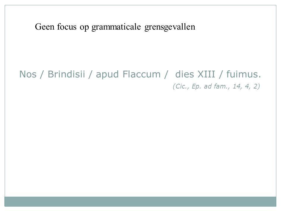 tekst1 Geen focus op grammaticale grensgevallen