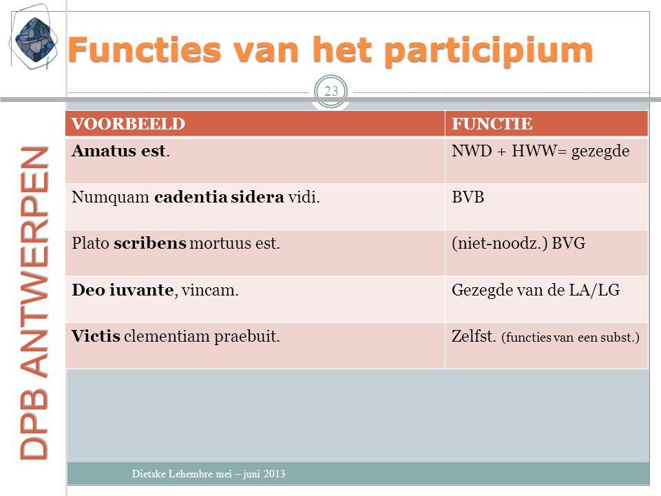 Functies van het participium