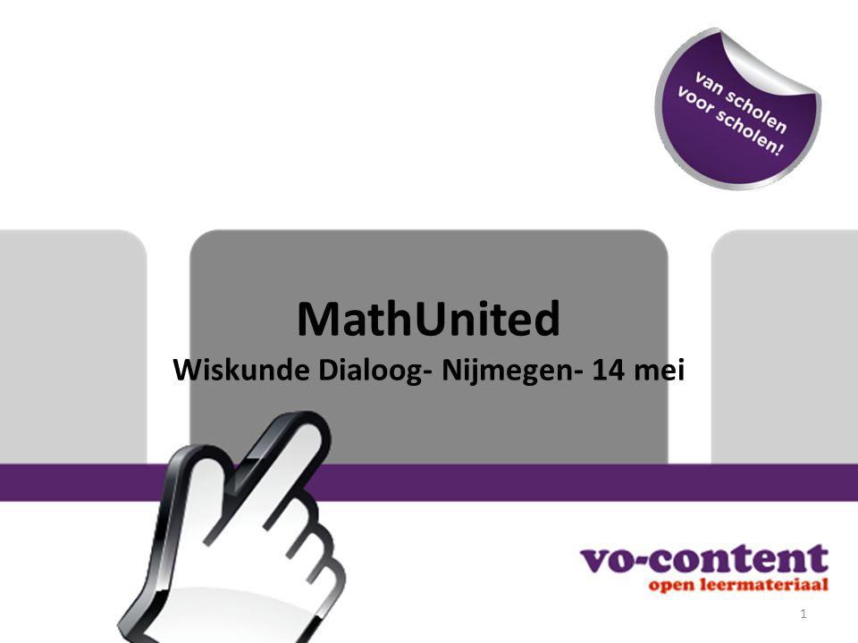 MathUnited Wiskunde Dialoog- Nijmegen- 14 mei