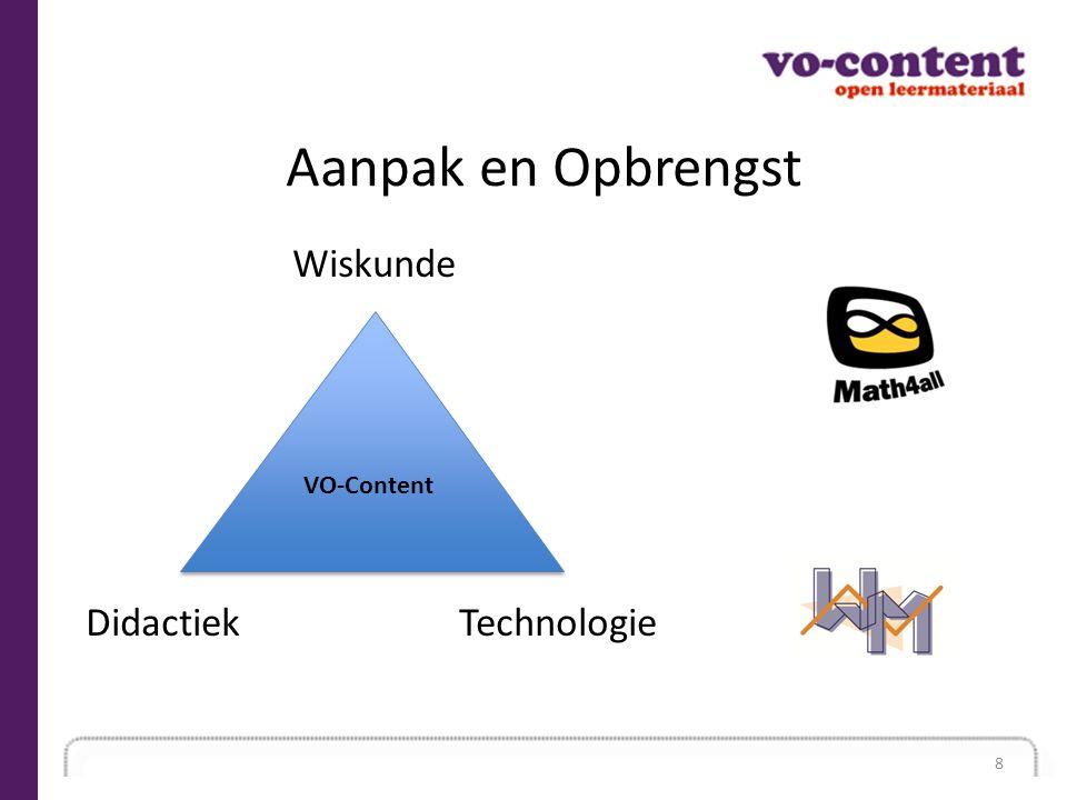 Aanpak en Opbrengst Wiskunde Didactiek Technologie VO-Content