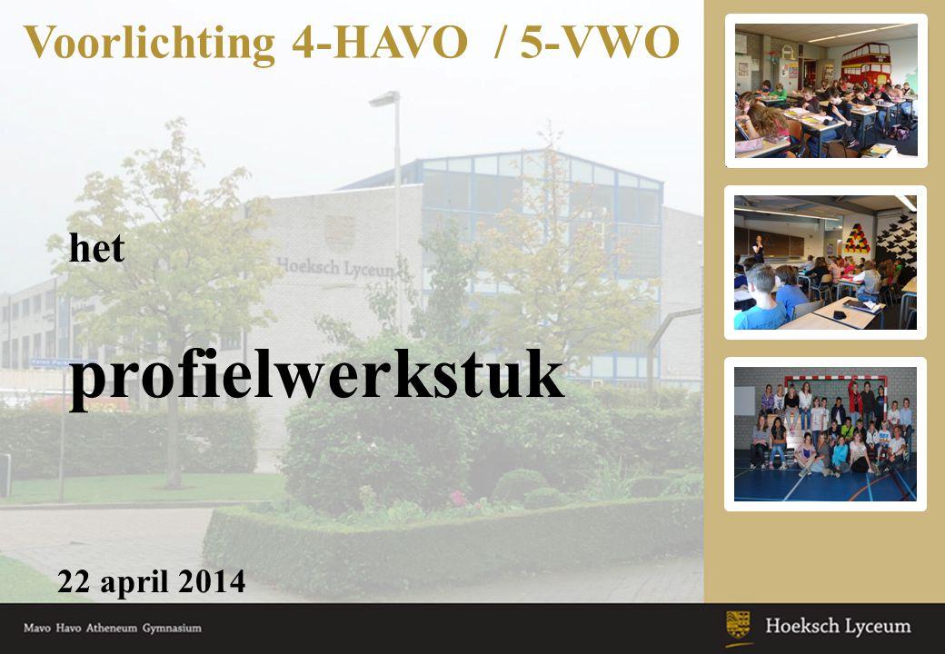 Voorlichting 4-HAVO / 5-VWO