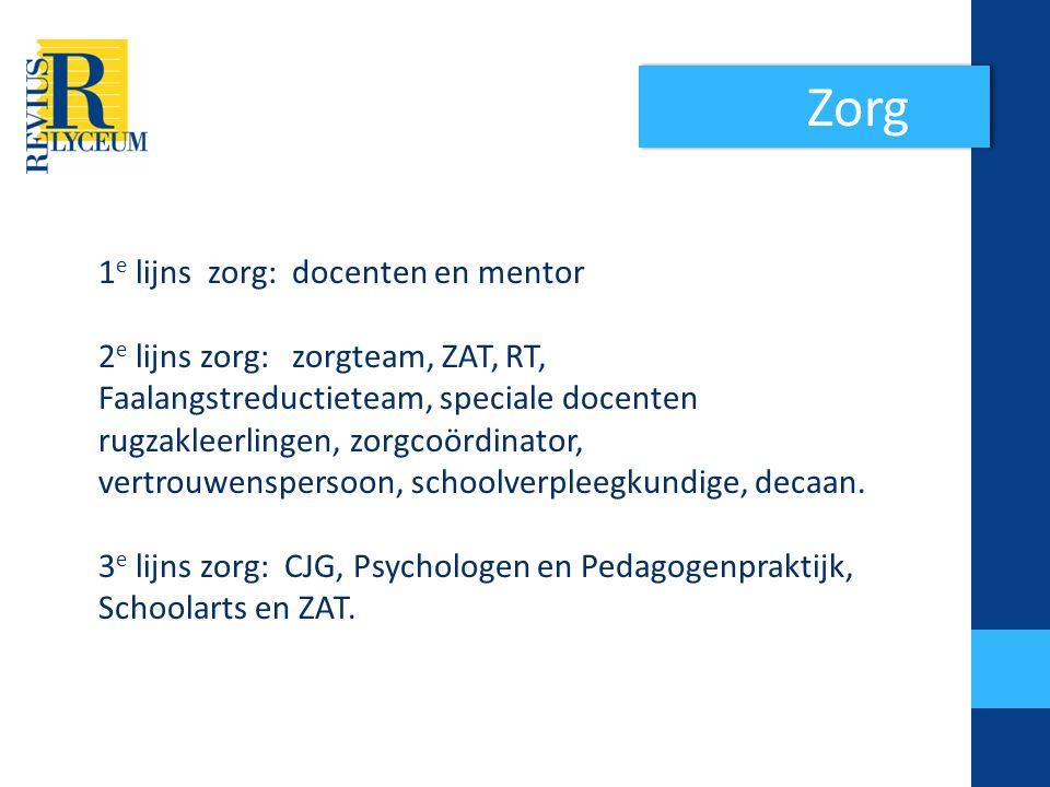Zorg 1e lijns zorg: docenten en mentor