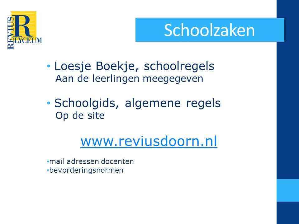 Schoolzaken Loesje Boekje, schoolregels Schoolgids, algemene regels