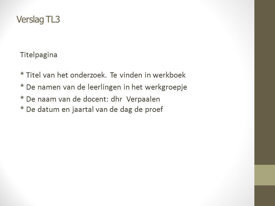 Verslag TL3