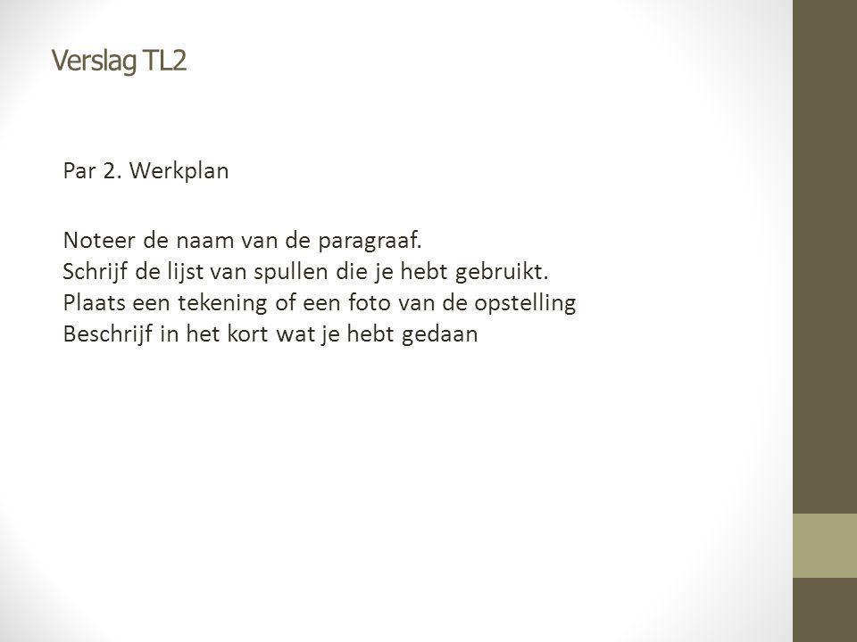 Verslag TL2