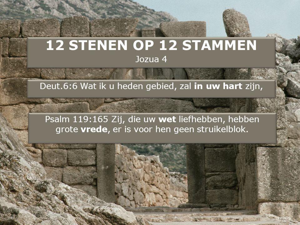 Deut.6:6 Wat ik u heden gebied, zal in uw hart zijn,