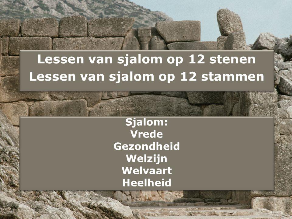 Lessen van sjalom op 12 stenen
