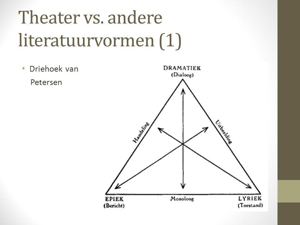 Theater vs. andere literatuurvormen (1)