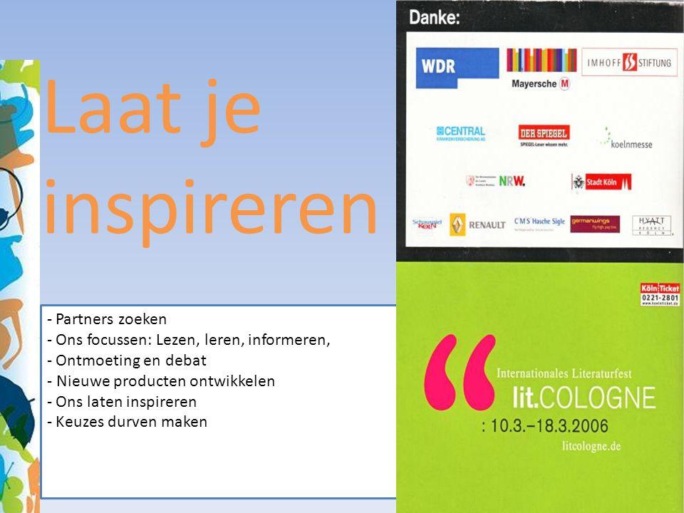 Laat je inspireren Partners zoeken