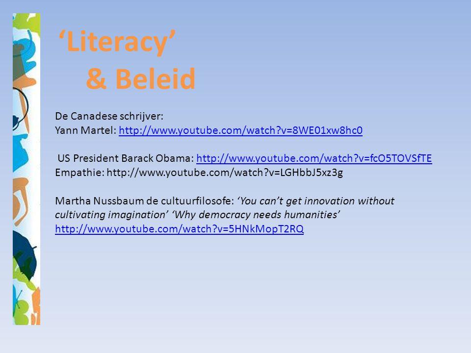 'Literacy' & Beleid