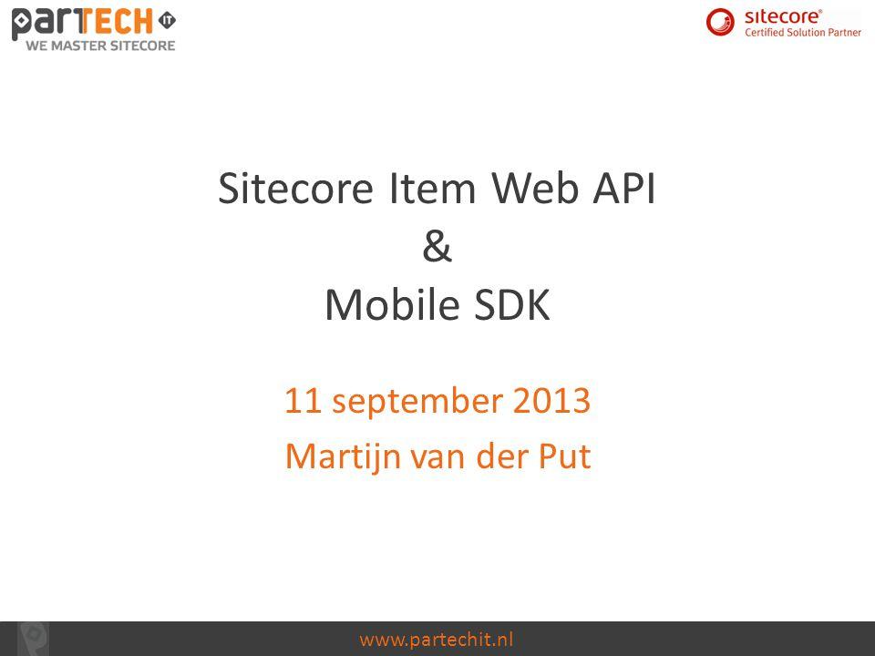 Sitecore Item Web API & Mobile SDK