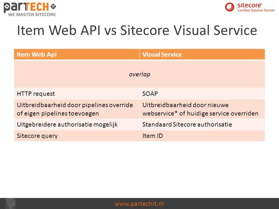 Item Web API vs Sitecore Visual Service