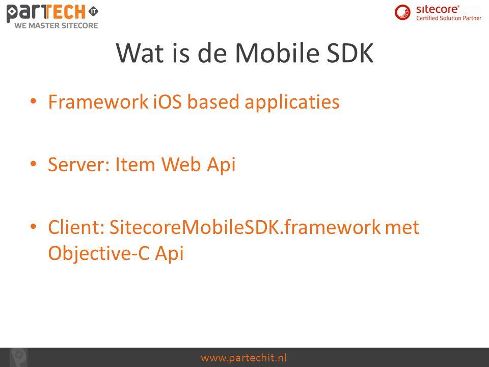 Wat is de Mobile SDK Framework iOS based applicaties