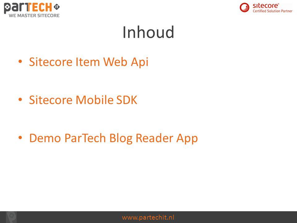 Inhoud Sitecore Item Web Api Sitecore Mobile SDK