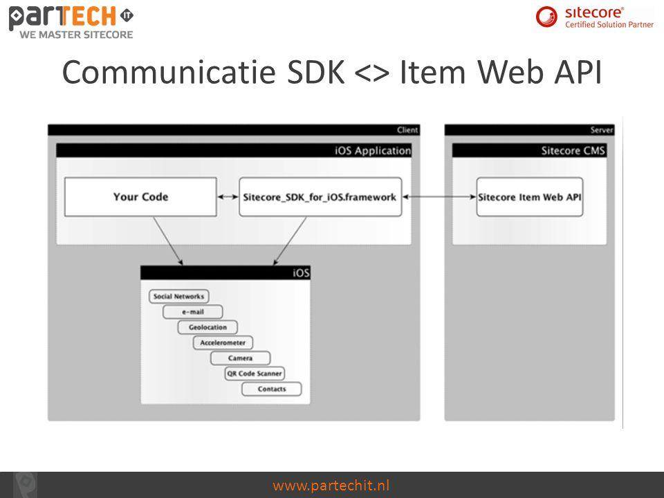 Communicatie SDK <> Item Web API