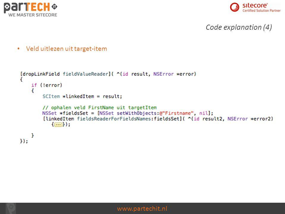 Code explanation (4) Veld uitlezen uit target-item