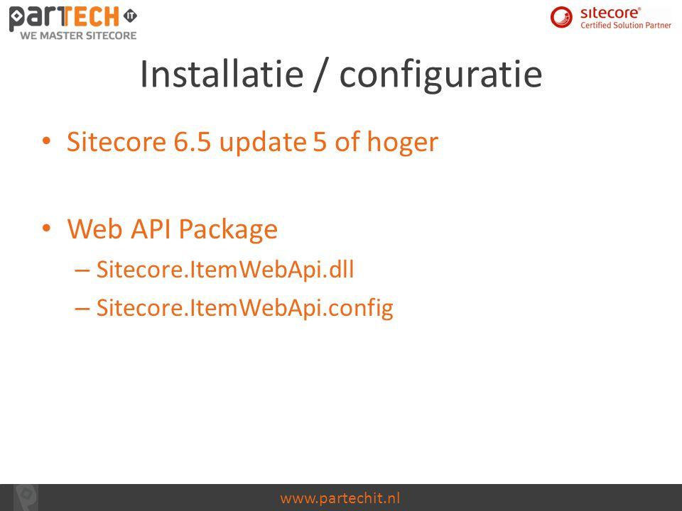 Installatie / configuratie