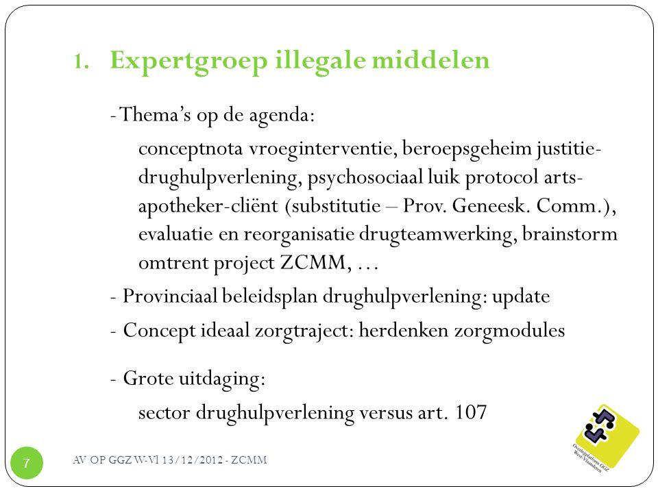 Expertgroep illegale middelen