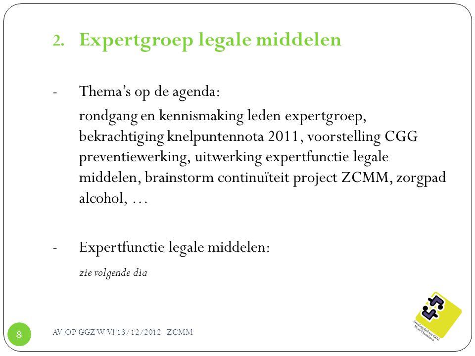 Expertgroep legale middelen