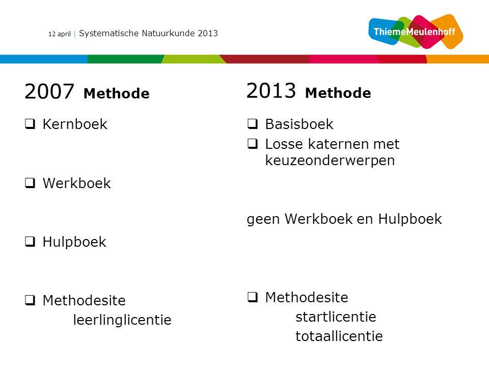 2007 Methode 2013 Methode Kernboek Basisboek