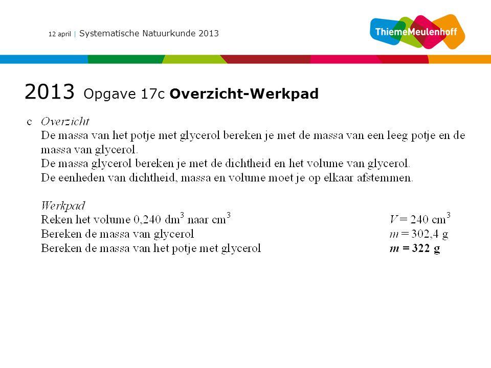 2013 Opgave 17c Overzicht-Werkpad