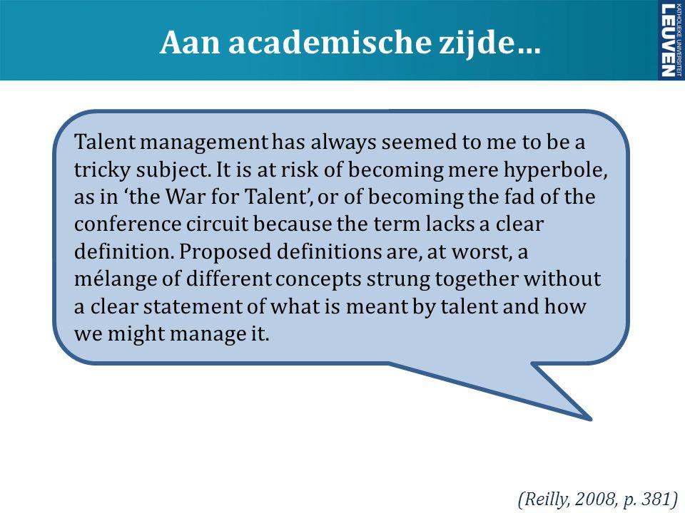 Aan academische zijde…