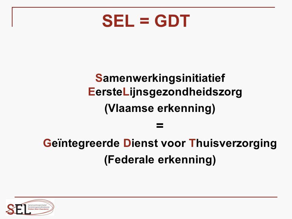 SEL = GDT = Samenwerkingsinitiatief EersteLijnsgezondheidszorg