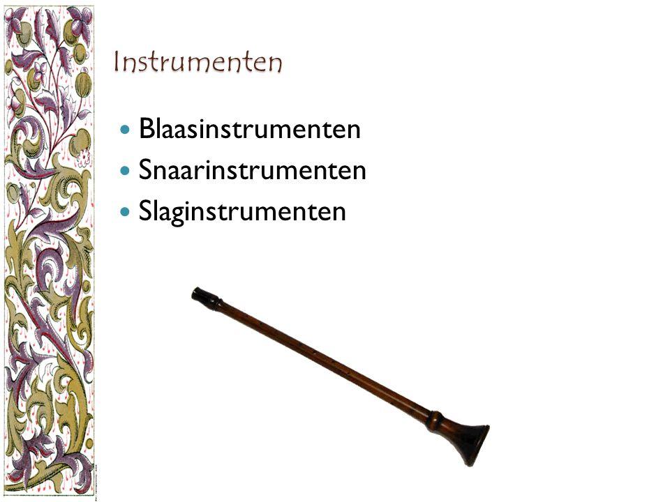 Instrumenten Blaasinstrumenten Snaarinstrumenten Slaginstrumenten