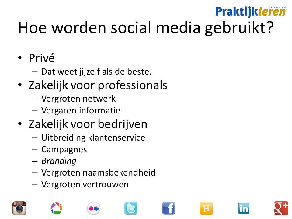 Hoe worden social media gebruikt