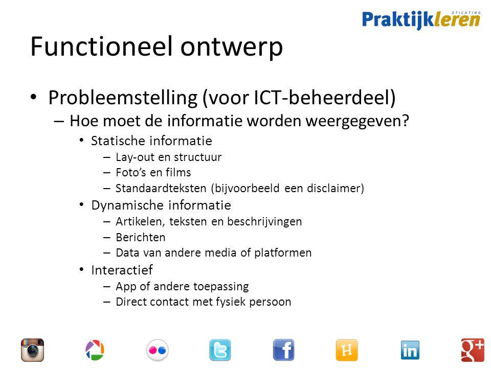 Functioneel ontwerp Probleemstelling (voor ICT-beheerdeel)