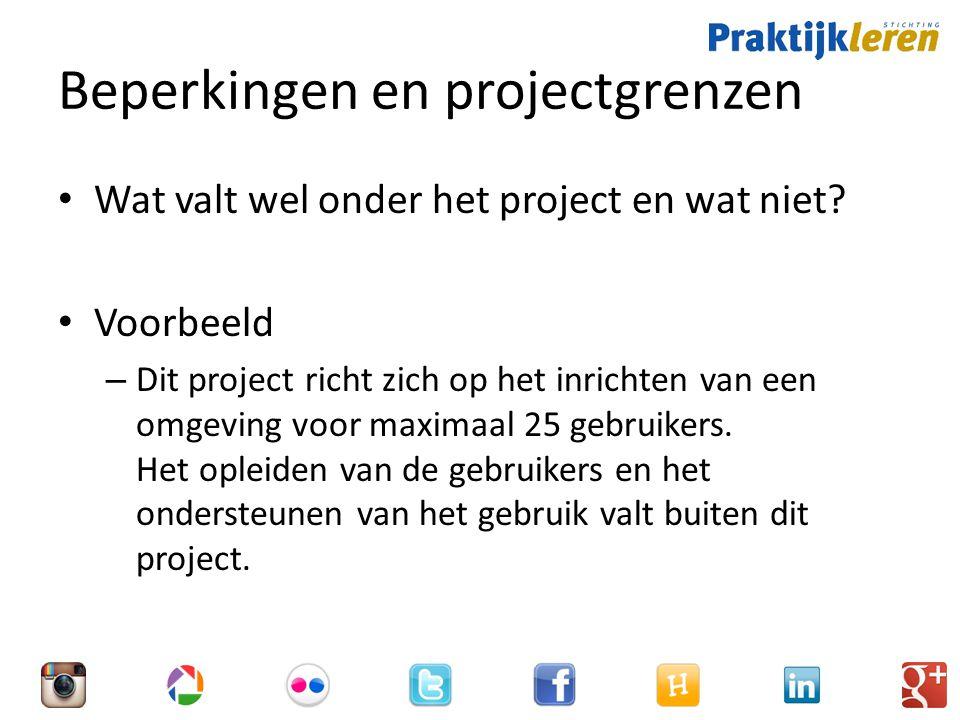 Beperkingen en projectgrenzen
