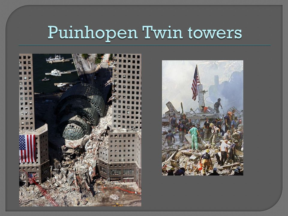 Puinhopen Twin towers